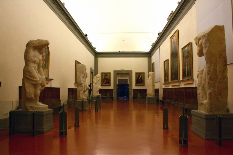 Hall of Prisoners at the Accademia Gallery