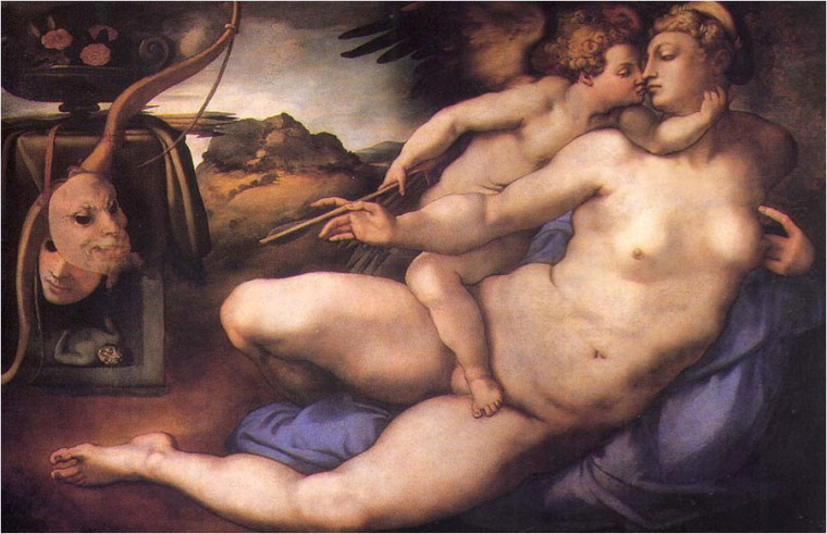 Pontormo's Venus and Cupid based on a drawing by Michelangelo