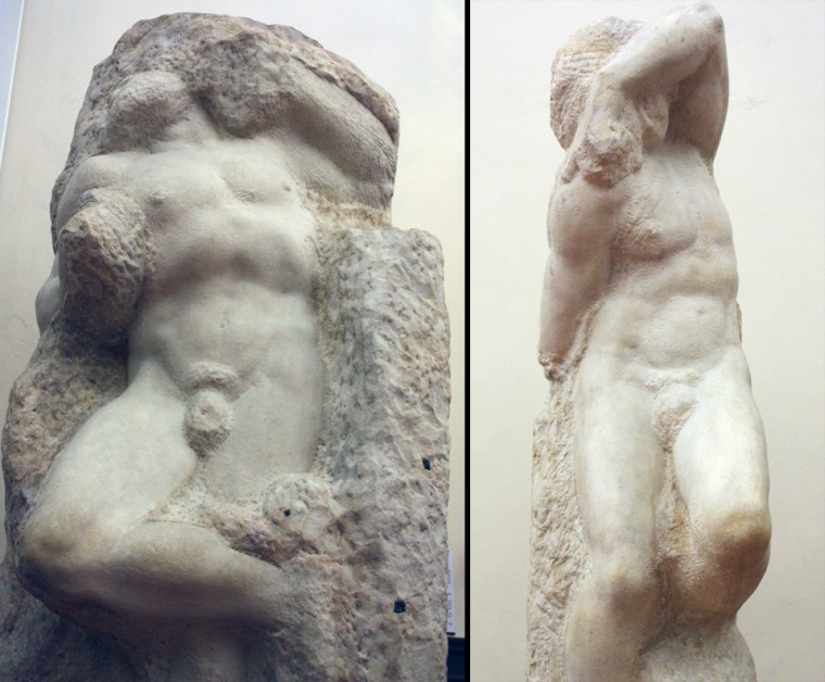 "The ""Awakening Slave"" and ""Young Slave"" by Michelangelo"