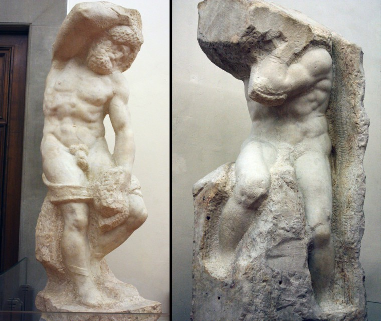 "The ""Bearded Slave"" and ""The Atlas"" by Michelangelo"