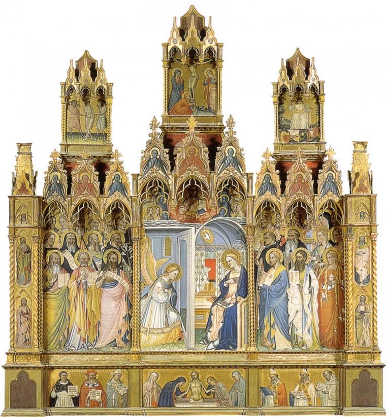 """Giovanni del Biondo, """"Annunciation"""""""